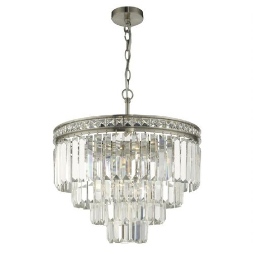 Vyana 4 Light 4 Tier Pendant Satin Nickel And Crystal VYA0438
